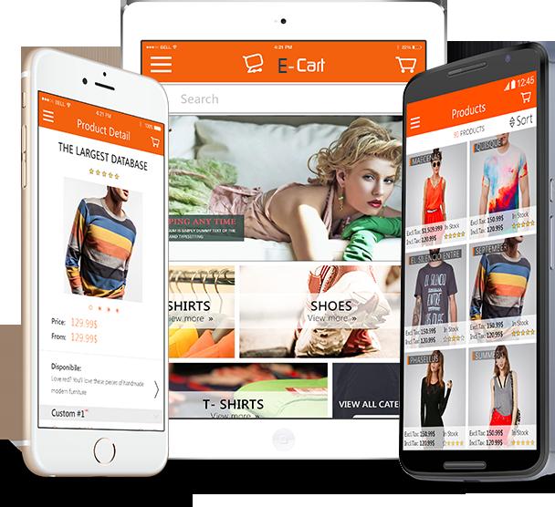 Custom software development web applications development for E commerce mobili